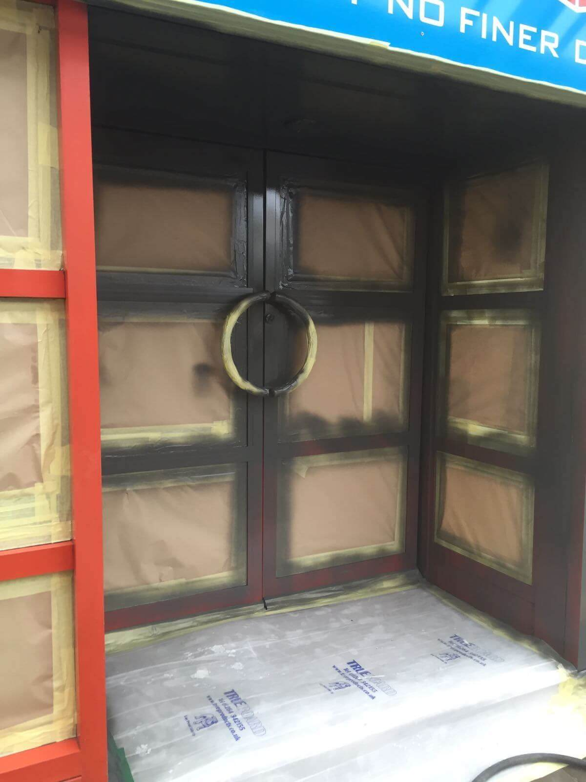 Curtain Walling & Door Painting Edinborough Scotland