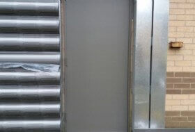 Exit Doors Re-coating in Bedford, Bedfordshire