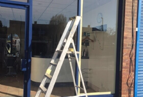 Shop Front & Doors Re-Coating in Dunstable, Bedfordshire